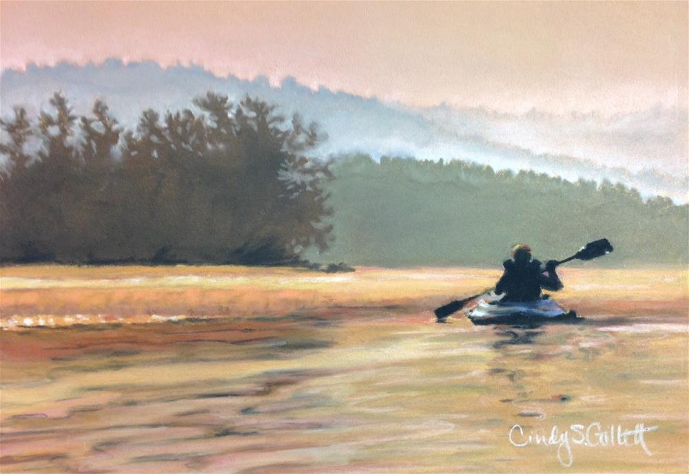 """An Evening On The Lake"" original fine art by Cindy Gillett"