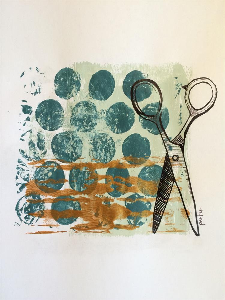 """Running with Scissors"" original fine art by Teddi Parker"