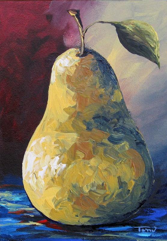 """Pear  X"" original fine art by Torrie Smiley"