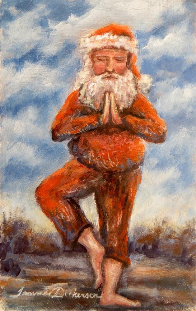 """Yoga Santa"" original fine art by Tammie Dickerson"