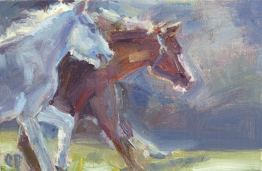 """Horse Painting, Original oil by Carol DeMumbrum"" original fine art by Carol DeMumbrum"