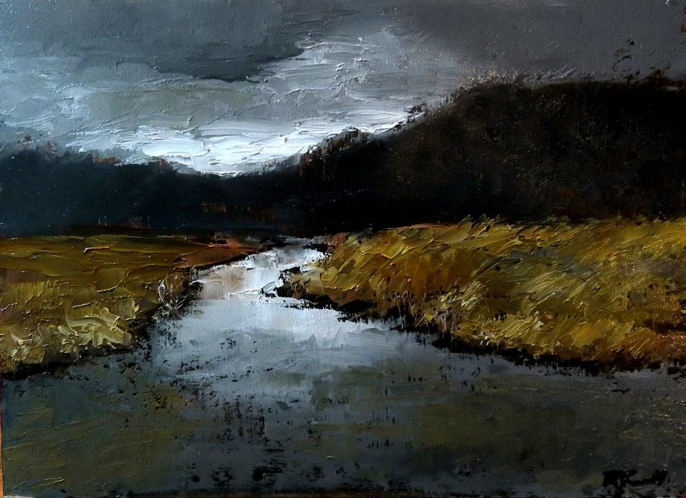 """""""Dark Marsh"""" original fine art by Bob Kimball"""