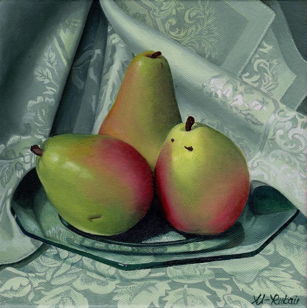 """""""Vintage Pears"""" original fine art by Catherine Al-Rubaie"""
