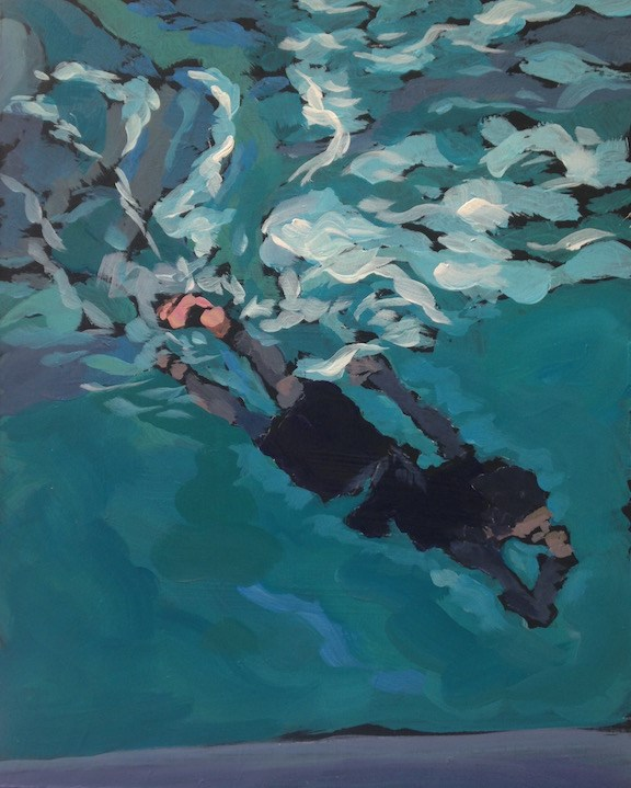 """The Diver"" original fine art by Kat Corrigan"