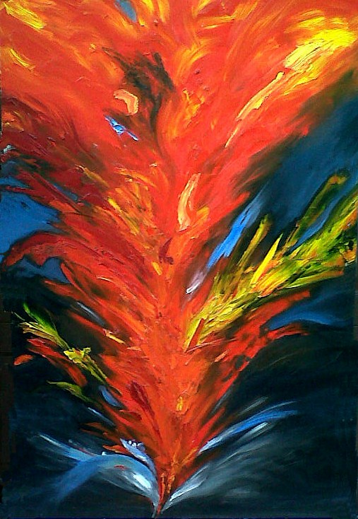 """Refiner's Fire"" original fine art by Nancy Parsons"