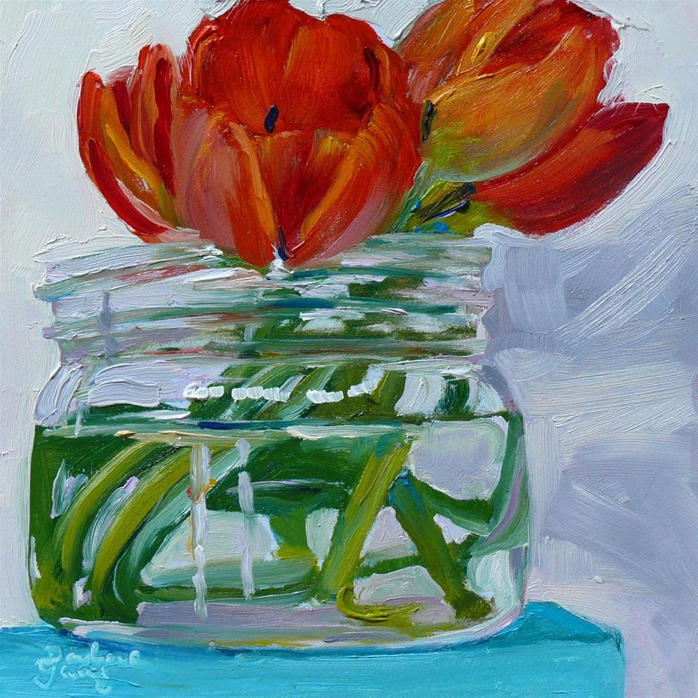 """637 Red Tulips"" original fine art by Darlene Young"