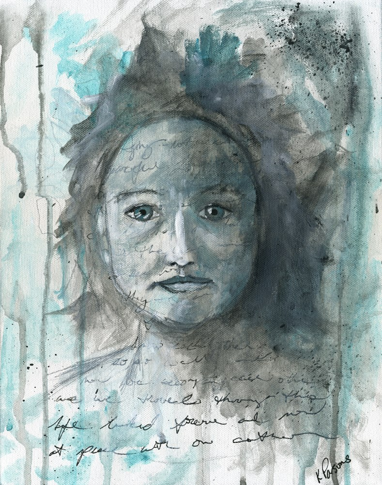"""Self Acceptance"" original fine art by Kali Parsons"