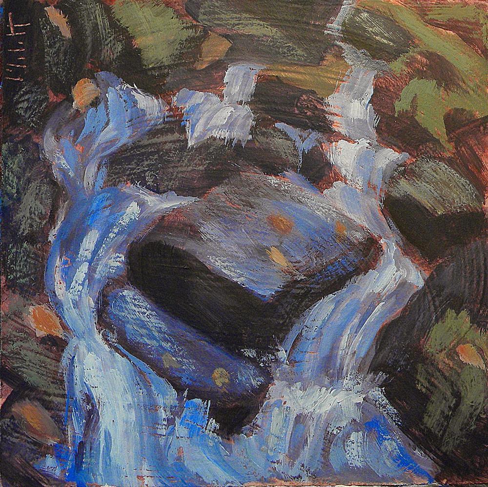 """Spring Mill Park Creek Stream Babbling Brook Impressionist Painting"" original fine art by Heidi Malott"
