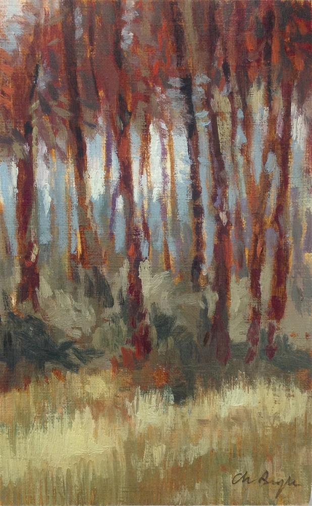 """Forest"" original fine art by Christine Bayle"
