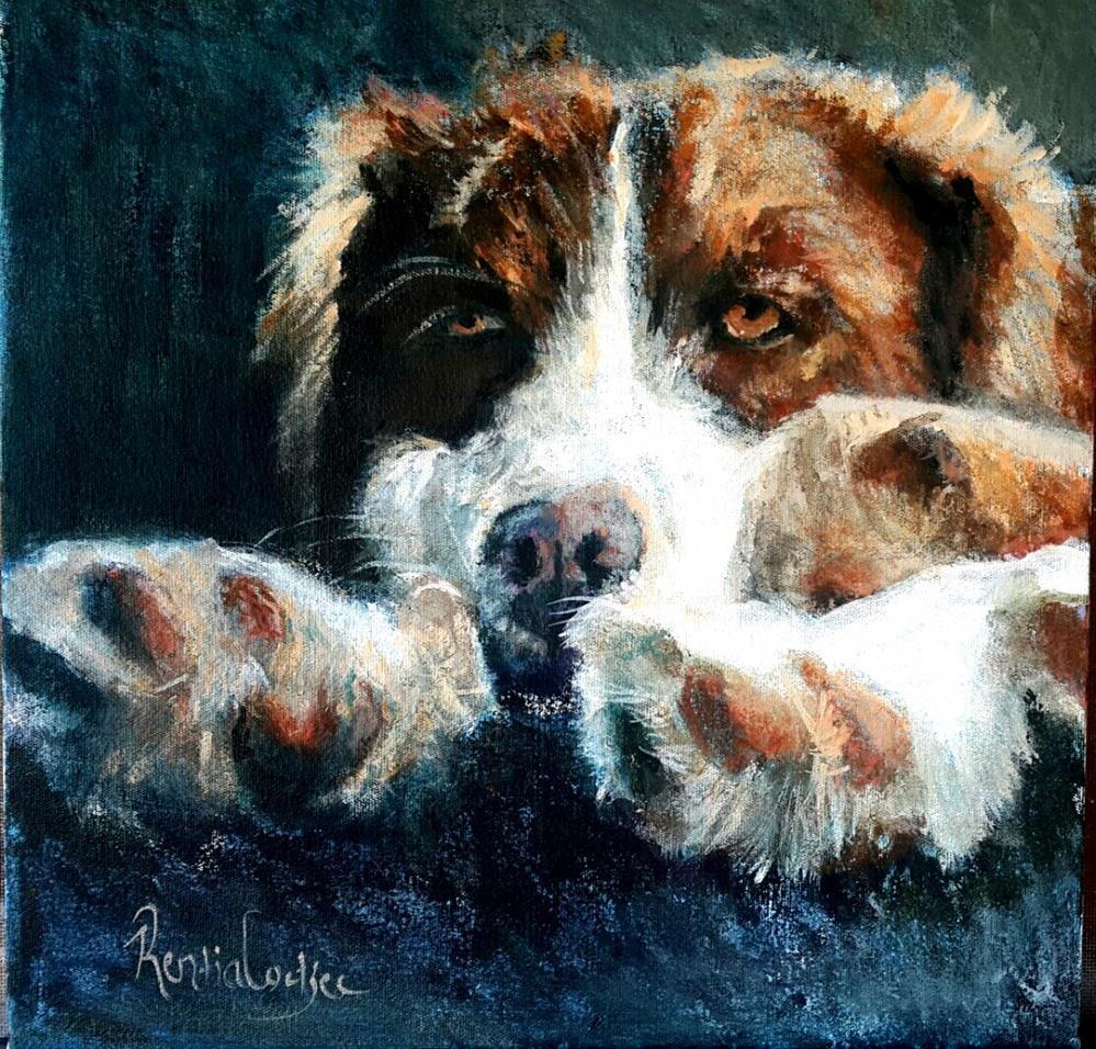 """Watchdog"" original fine art by Rentia Coetzee"