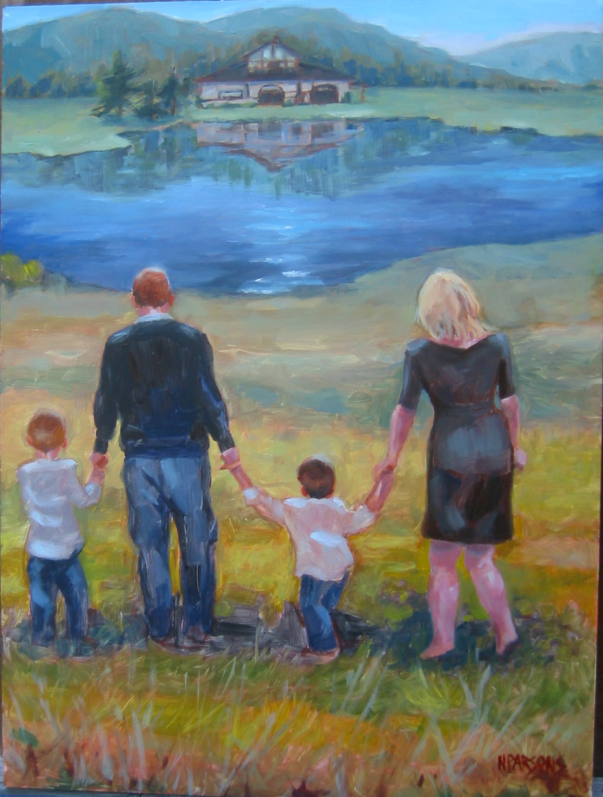 """Happily Ever After II"" original fine art by Nancy Parsons"