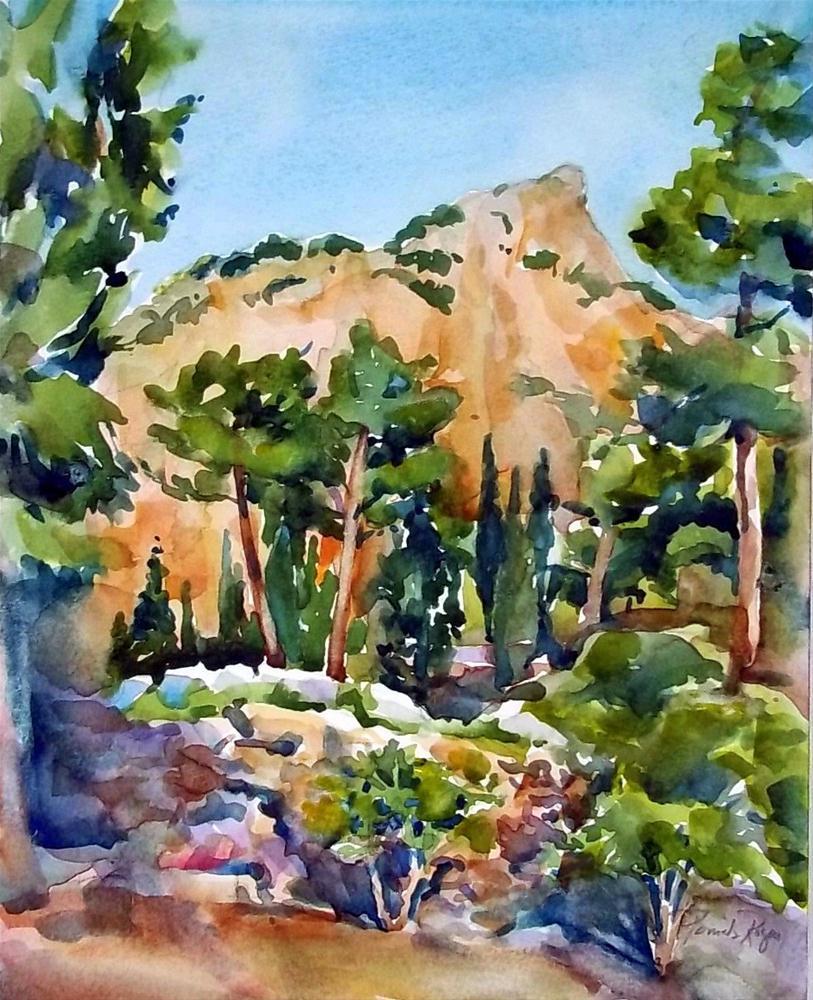 """Delphic Landscape"" original fine art by Pamela Jane Rogers"