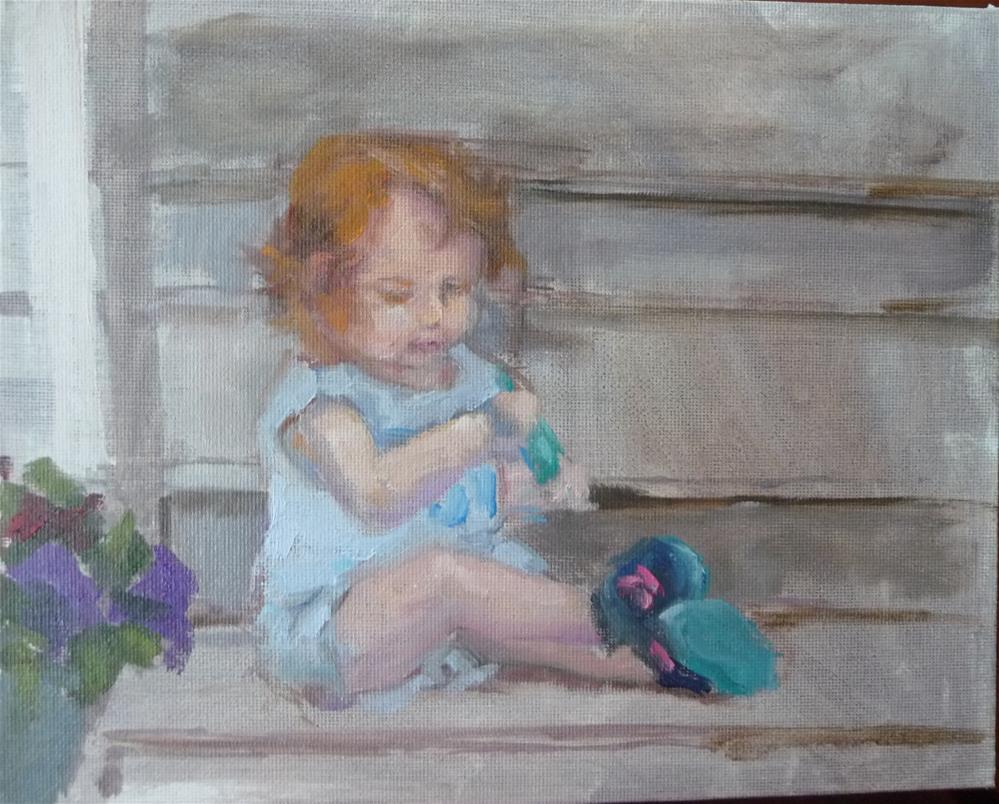 """""""Rosie"""" original fine art by Carol Josefiak"""