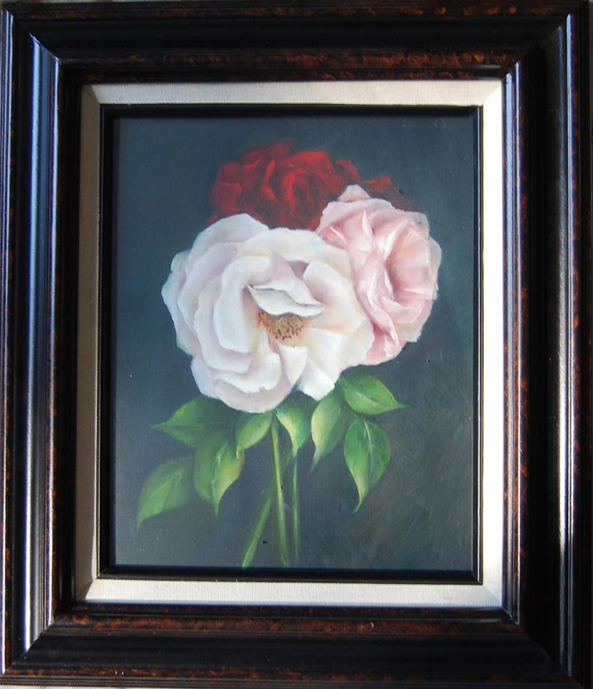 """Roses"" original fine art by Maureen Baker"