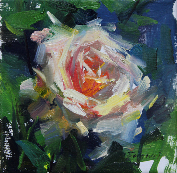 """Rose"" original fine art by Fongwei Liu"