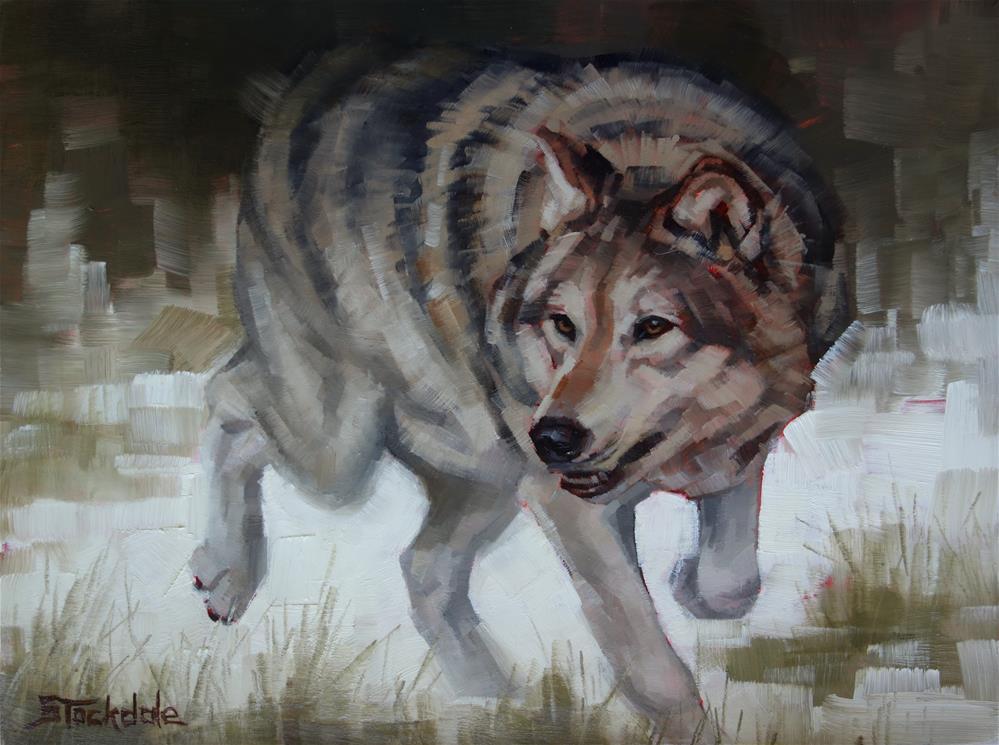 """On The Prowl"" original fine art by Margaret Stockdale"