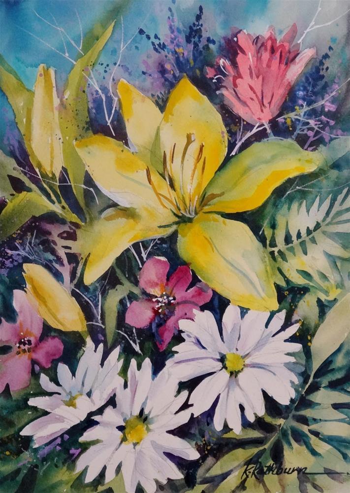 """Flowers from Rita"" original fine art by Kathy Los-Rathburn"