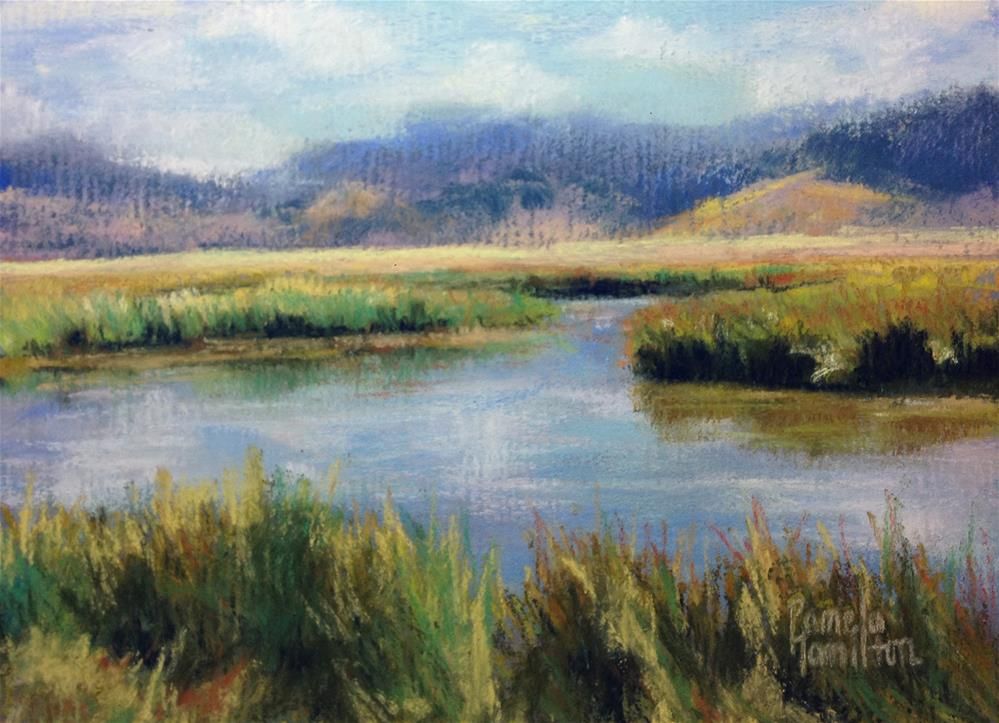"""Somewhere in the Tetons"" original fine art by Pamela Hamilton"