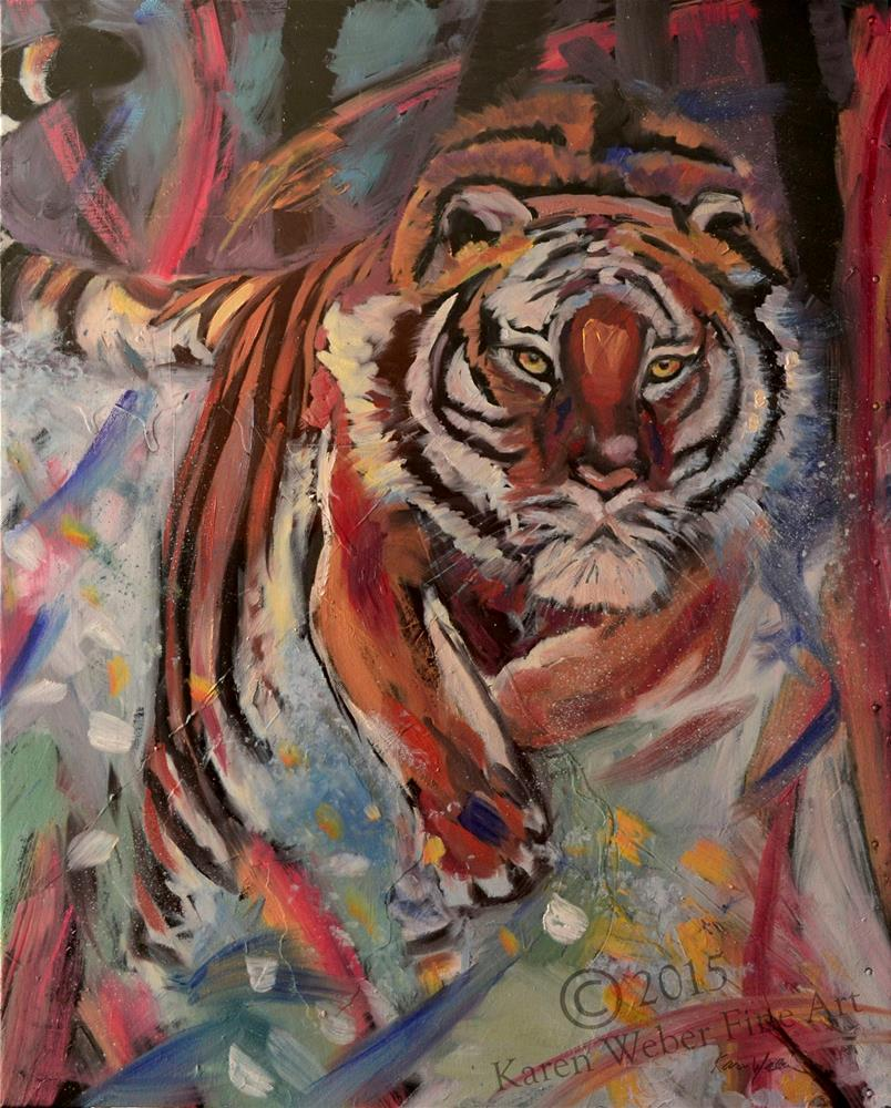 """Focused on the Quest"" original fine art by Karen Weber"