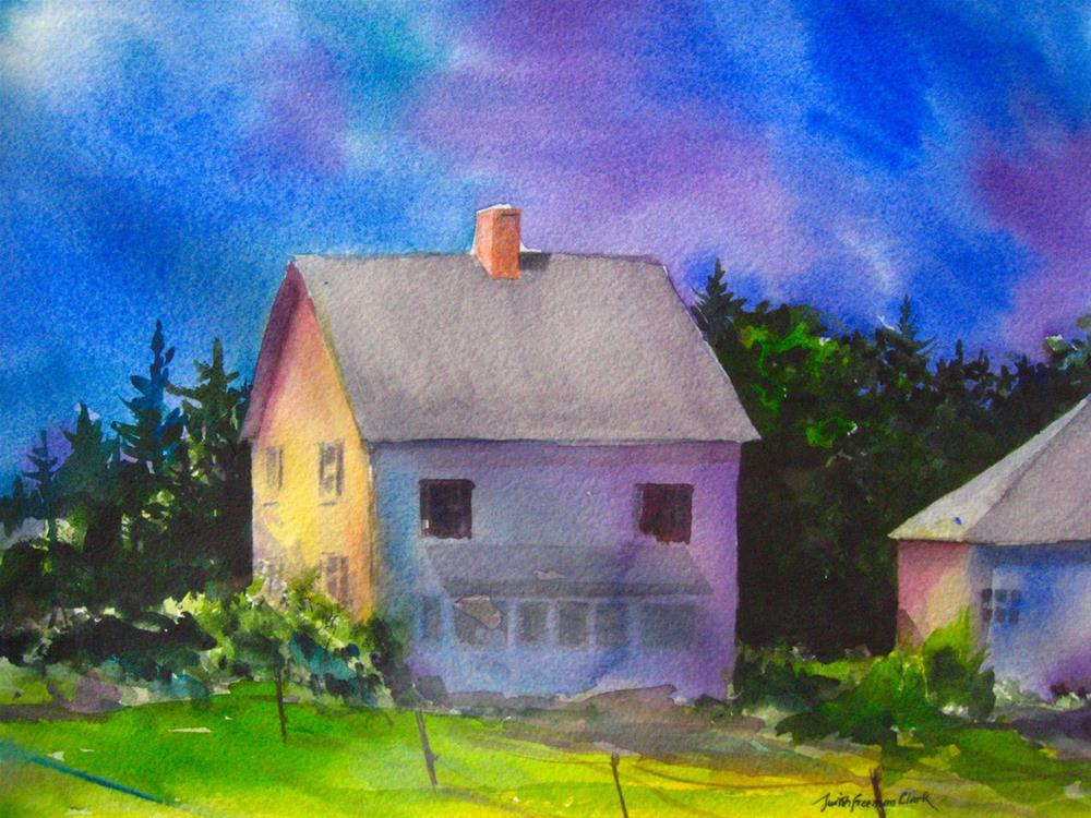 """Moody Blues"" original fine art by Judith Freeman Clark"