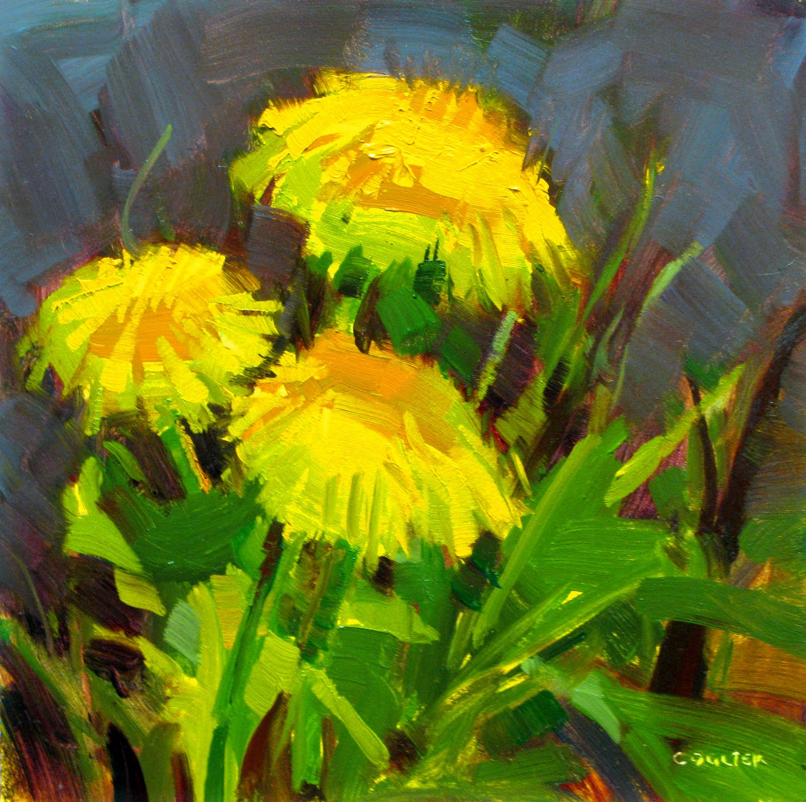 """DANDELION TRIO"" original fine art by James Coulter"