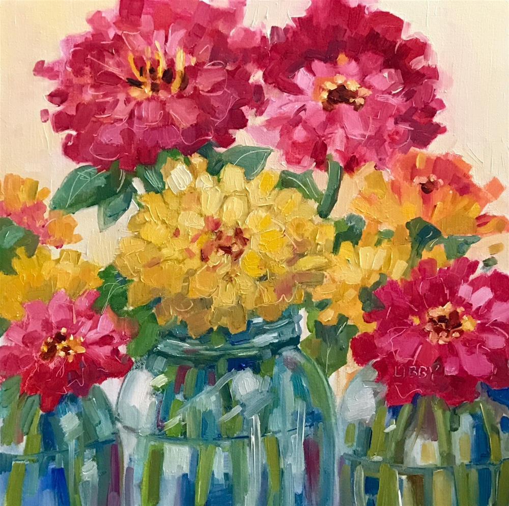 """FULL SWING"" original fine art by Libby Anderson"