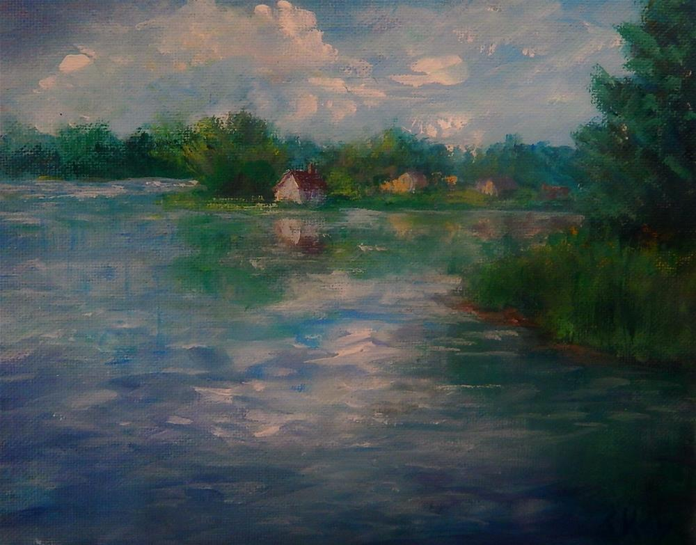 """Across the Pond"" original fine art by Sharon Kay Baker"