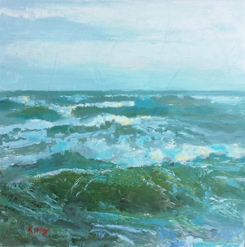"""The Sea Grows Angry"" original fine art by Randall Cogburn"