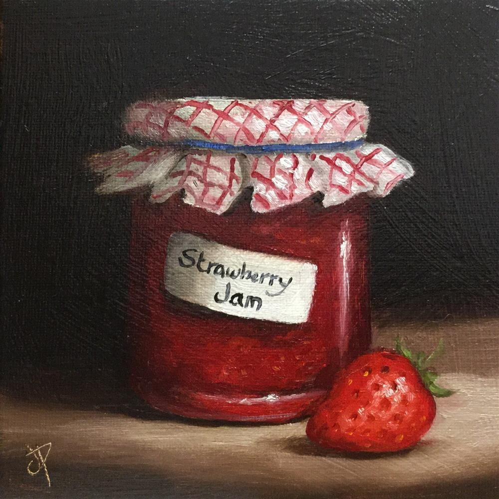 """Homemade Strawberry Jam"" original fine art by Jane Palmer"
