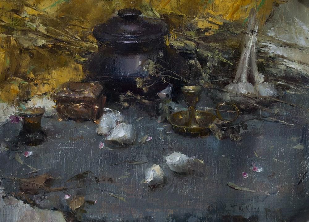 """""""Grays"""" original fine art by Taisia Kuklina"""