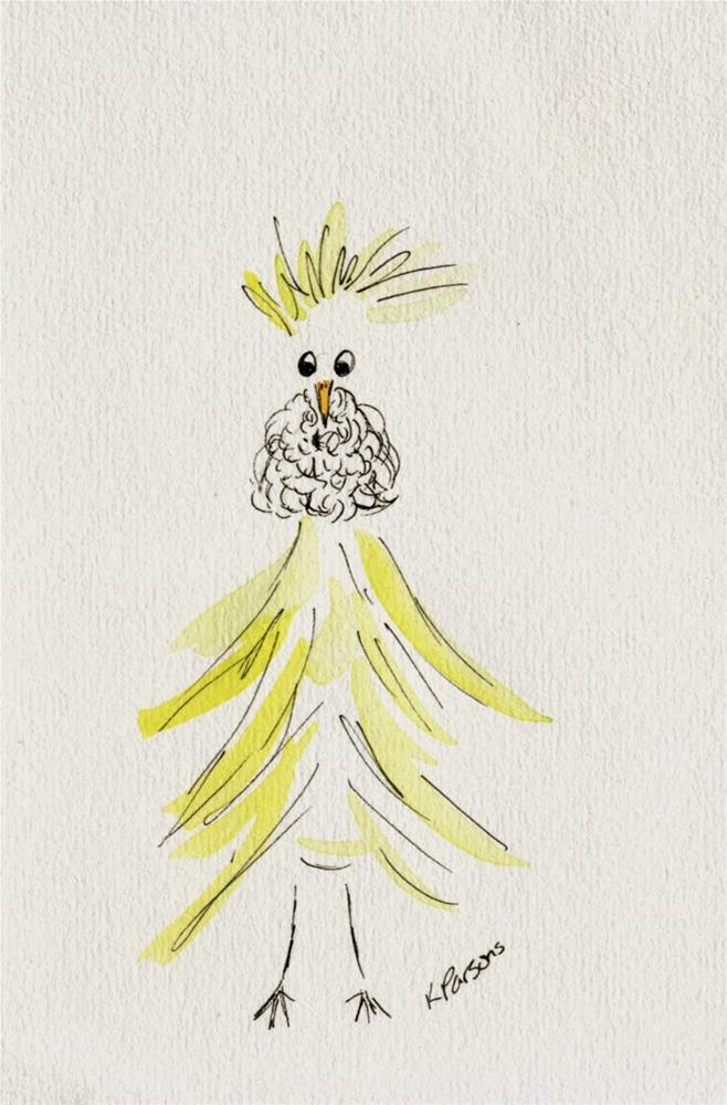 """Chicken with a Beard - American Cancer Society Fundraiser"" original fine art by Kali Parsons"