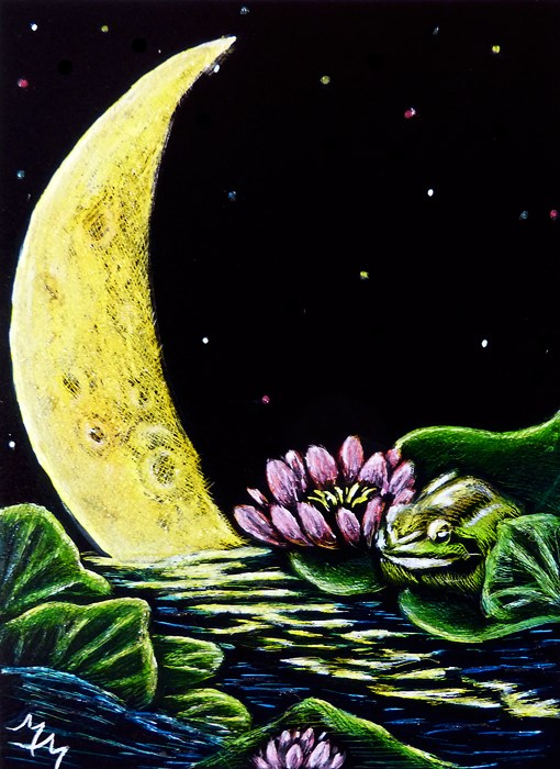"""Frog Totem - SA100"" original fine art by Monique Morin Matson"