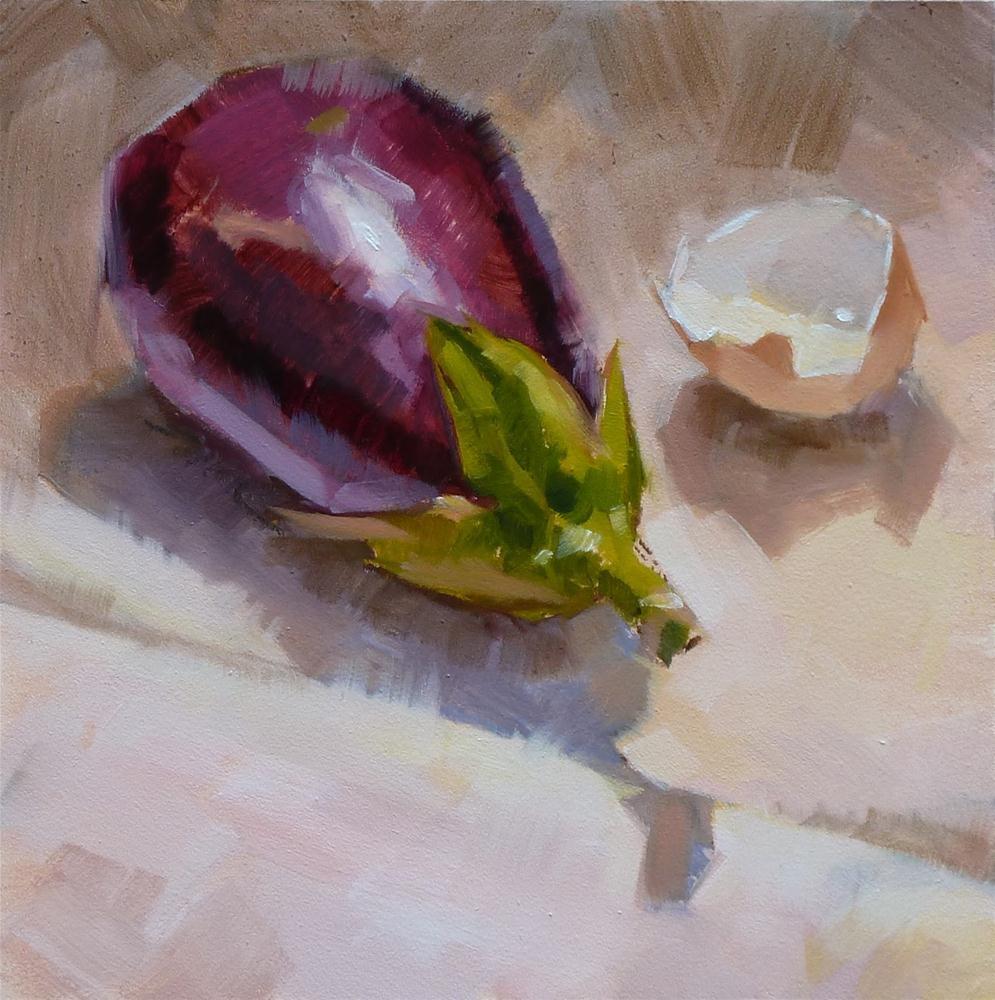 """Eggplant and Shell"" original fine art by Ron Ferkol"