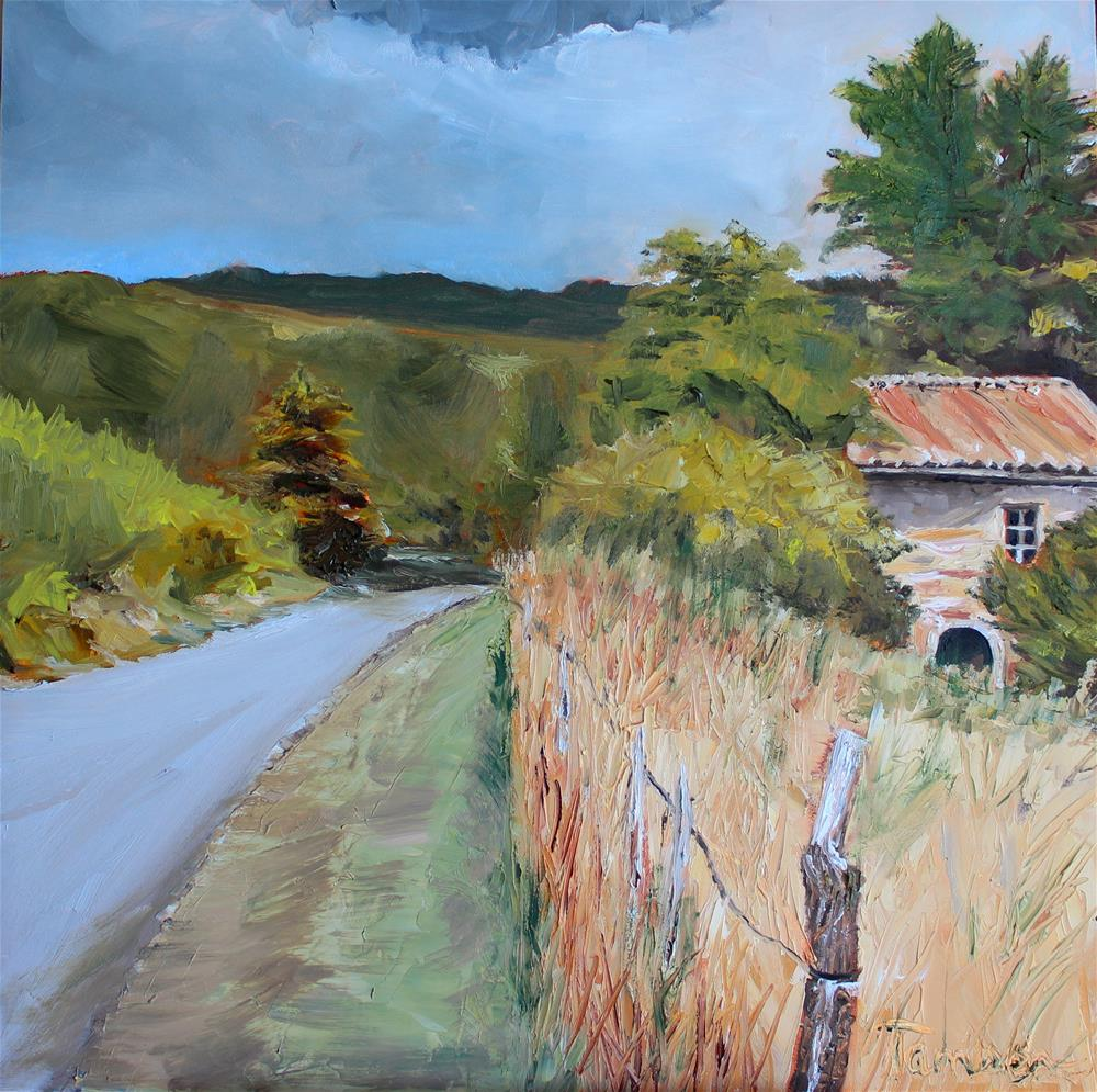 """Stone House Near Sault"" original fine art by Tamsen Armstrong"
