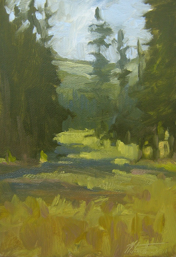 """Forest Shadows"" original fine art by Melanie Thompson"