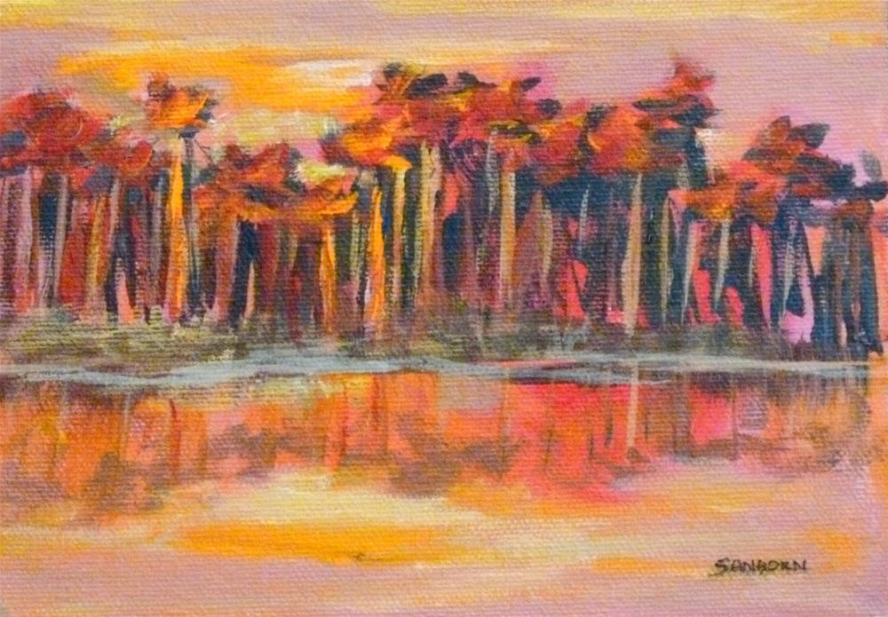 """Sizzling Sunset"" original fine art by Jo-Ann Sanborn"
