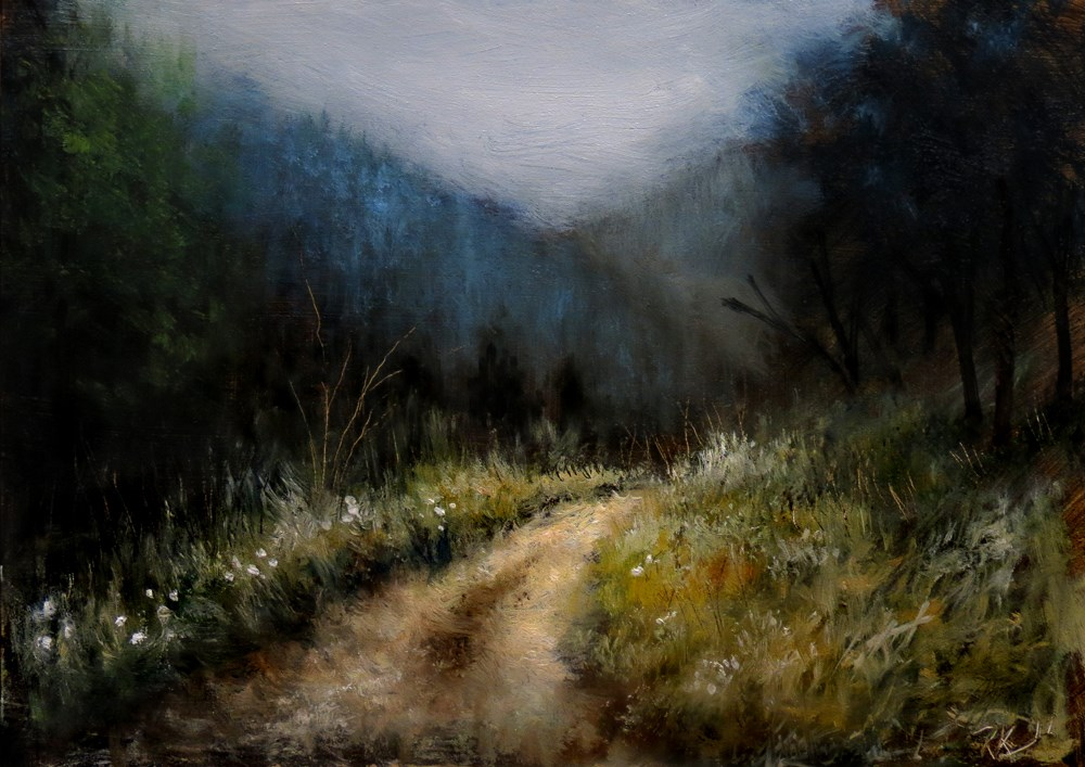 """Winding Path"" original fine art by Bob Kimball"