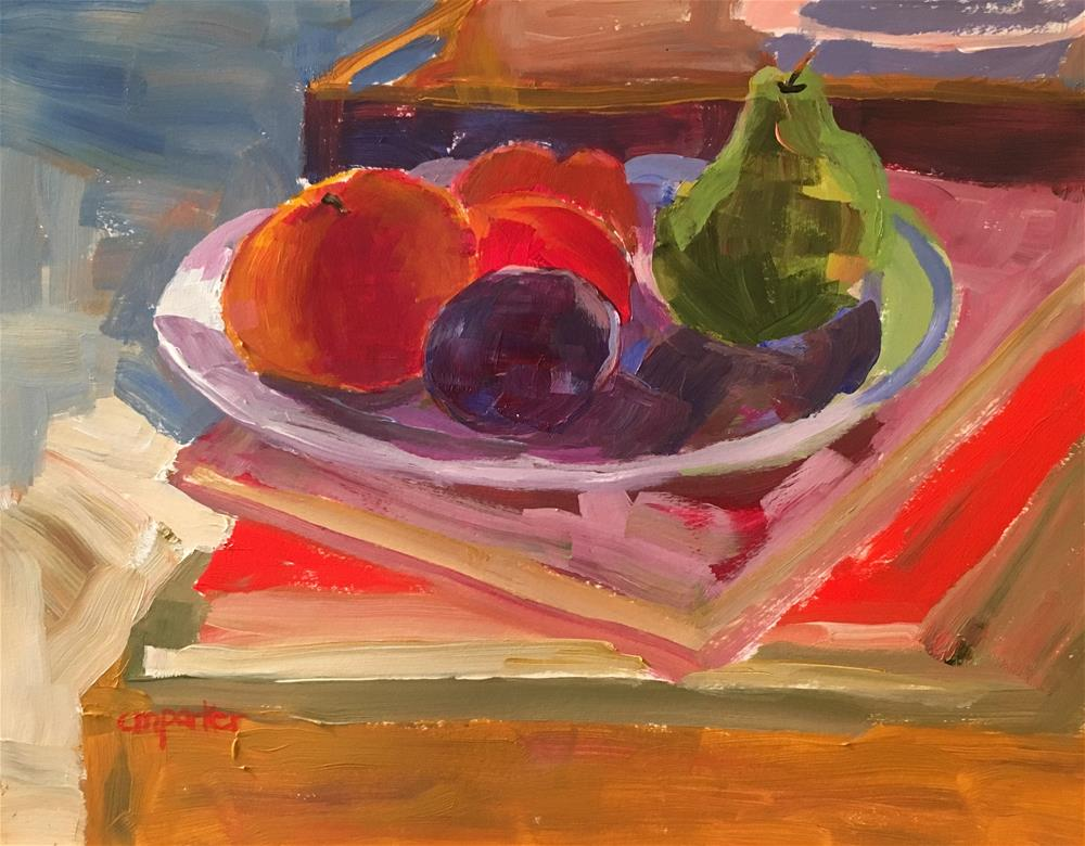 """Still life with fruit 5/30/16"" original fine art by Christine Parker"