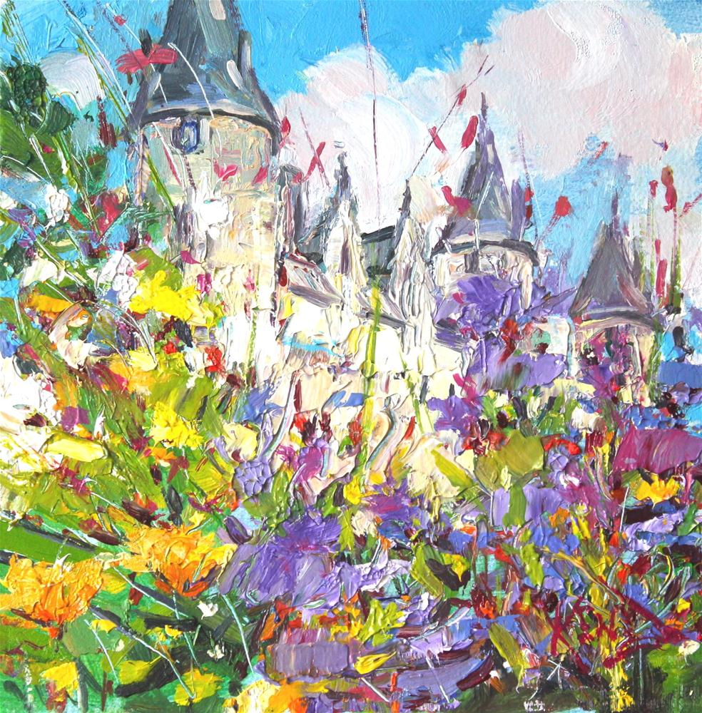"""Chateau Josselin"" original fine art by Ken Devine"