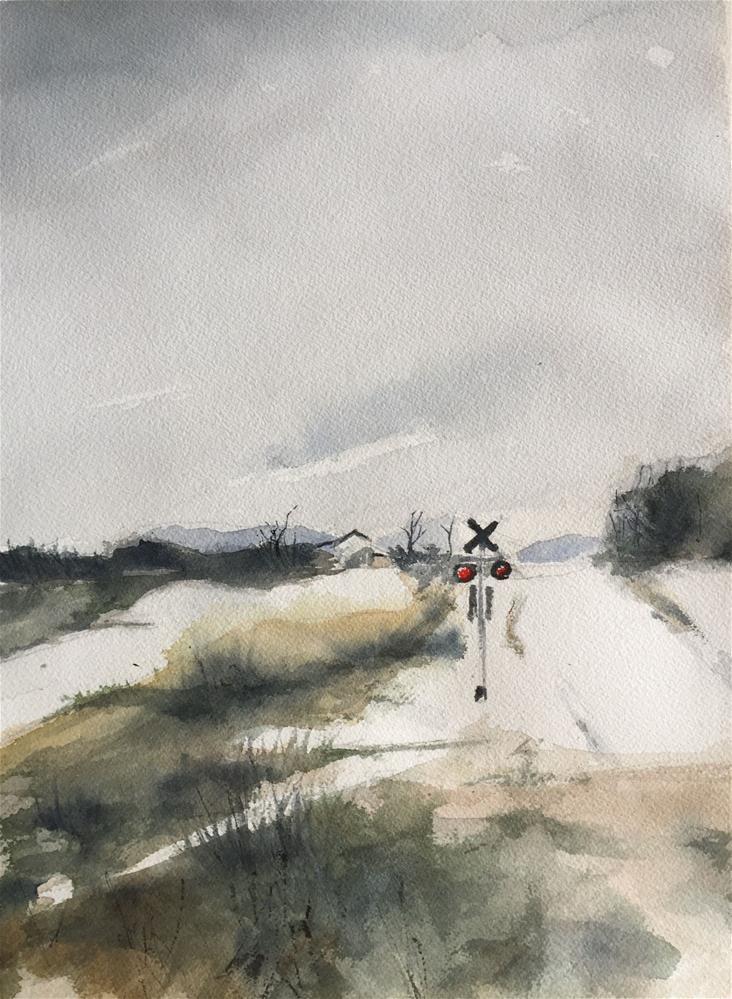 """SNOWNY LANDSCAPE"" original fine art by Ferran Llagostera"