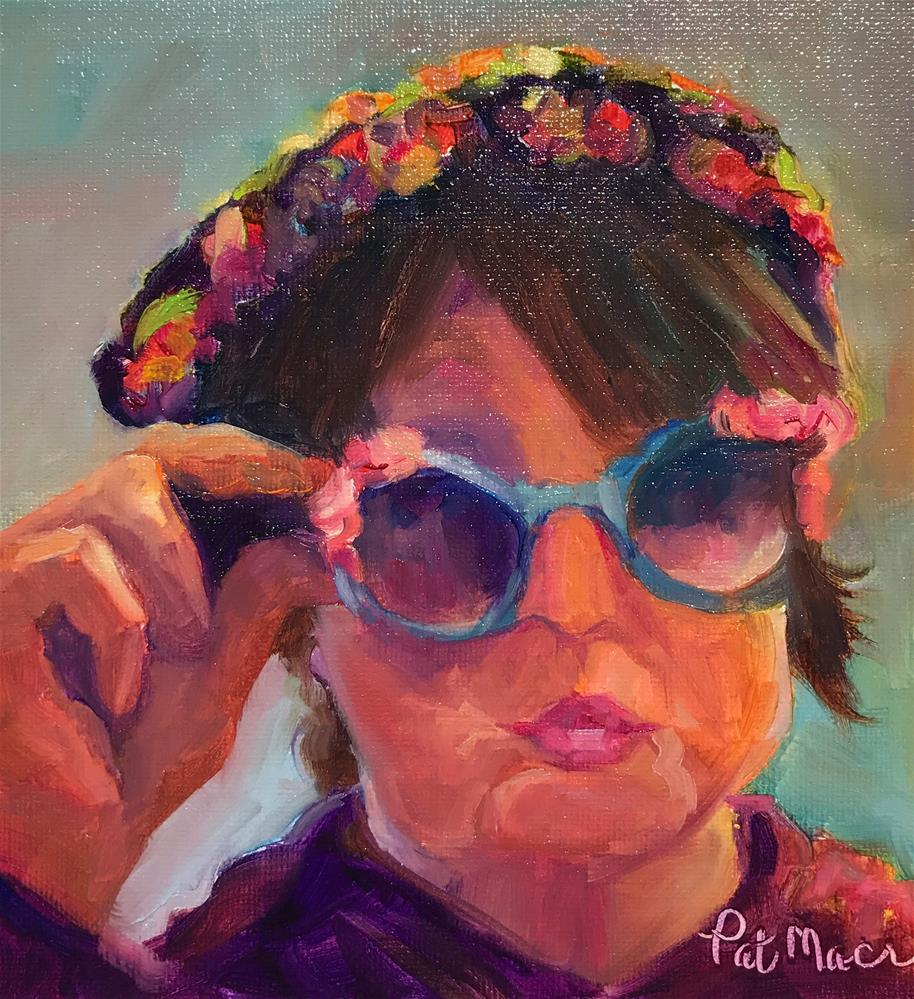 """Through my eyes"" original fine art by Pat Macri"