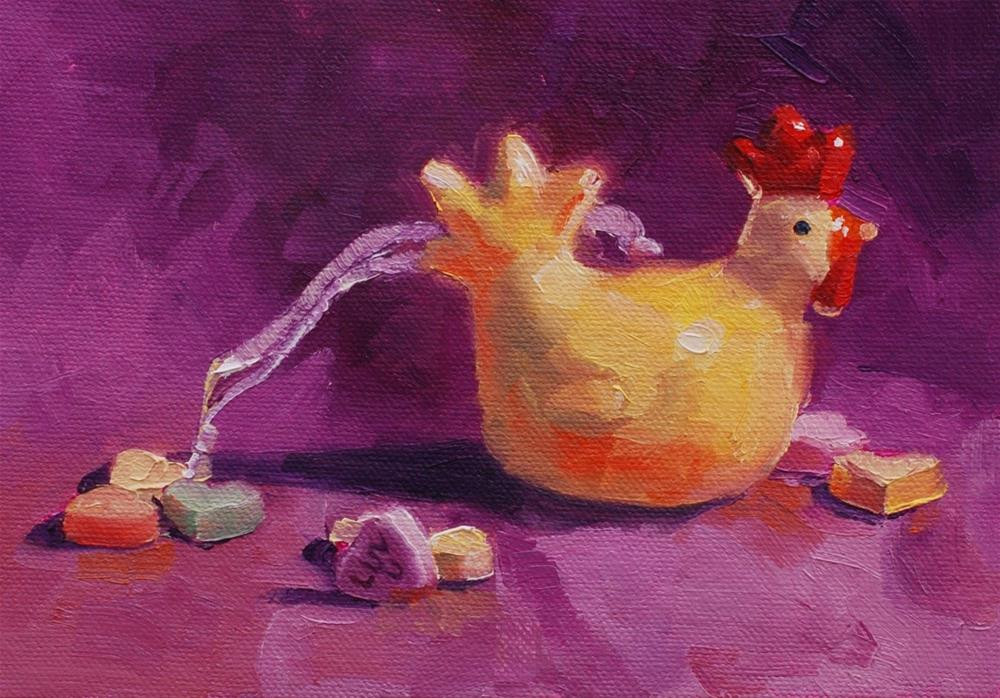 """Ms. Chick in my Hearts"" original fine art by Susan McManamen"