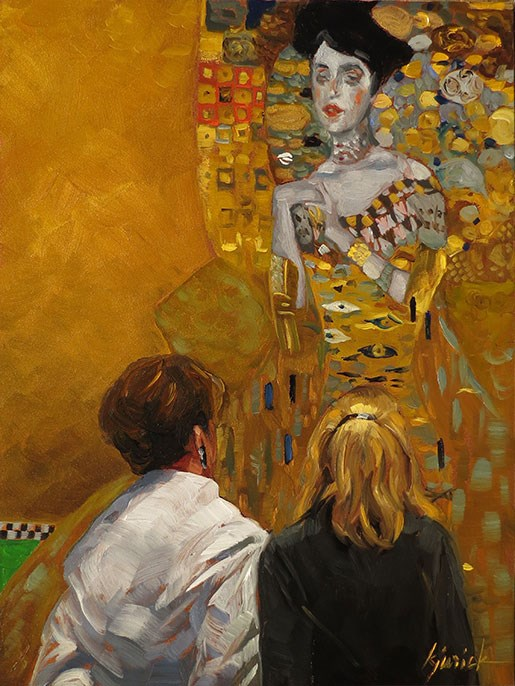 """Klimt"" original fine art by Karin Jurick"
