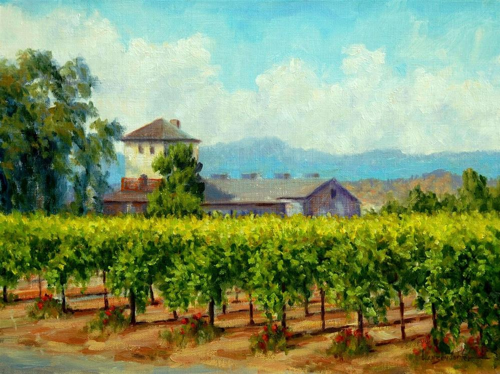"""NAPA VALLEY VINES"" original fine art by Dj Lanzendorfer"