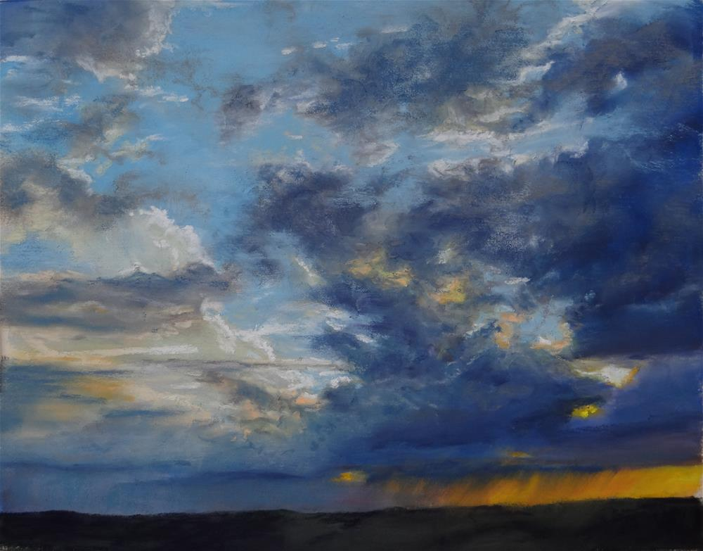 """Evening Storm"" original fine art by Denise Beard"