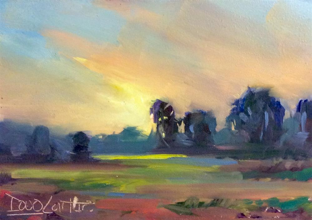 """ MEANDERING "" original fine art by Doug Carter"