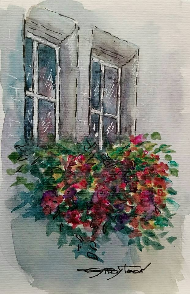 """Windows"" original fine art by Gabriella DeLamater"