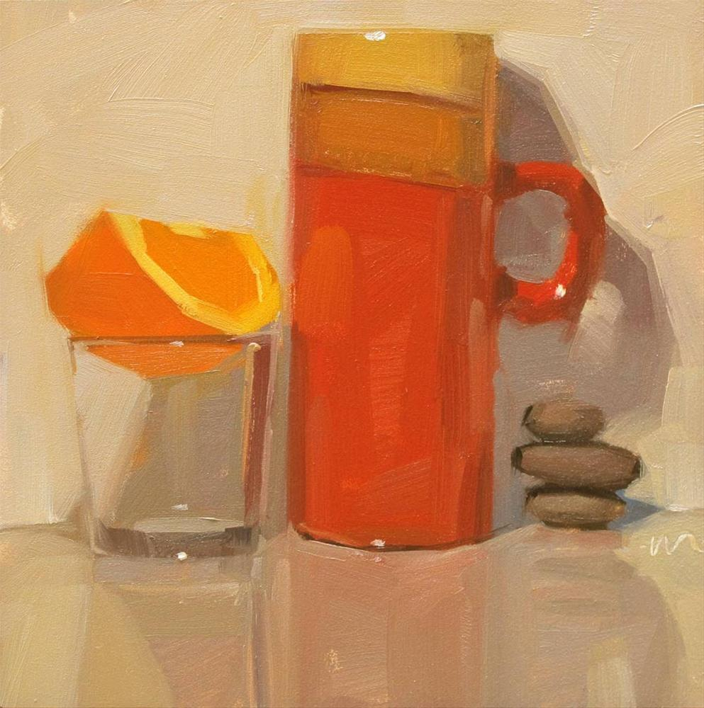"""A Balanced Breakfast"" original fine art by Carol Marine"