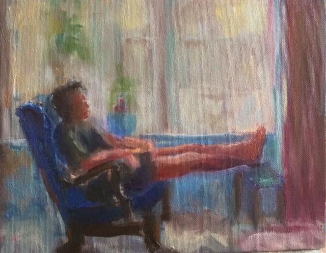 """Friday the Thirteenth"" original fine art by Thea Lombaard"