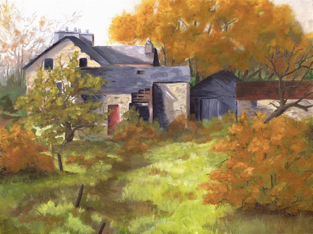 """Overgrown"" original fine art by Jeanne Strohrmann"
